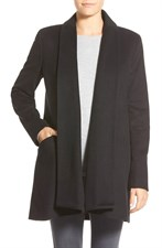 Double Face Wool Blend Wrap Coat